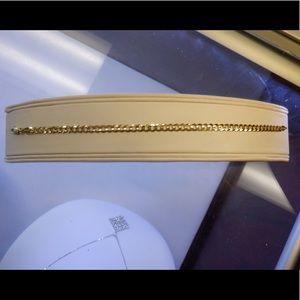 14k solid yellow gold cuban link bracelet 7.5'in